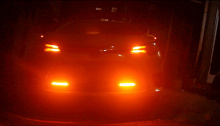 9054 ДХО с бегущими поворотниками в бампер ASTEROID VF600