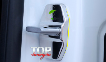 9070 Металлические заглушки на скобы дверей №2 на Mercedes
