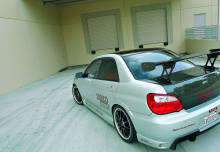 Накладки на пороги - пара, Обвес - INGS +1, тюнинг Subaru IMPREZA WRX (STi) Лиса.