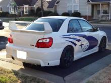 Задний бампер для Subaru Impreza.
