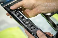 9665 Карбоновая накладка M Performance на центральную консоль BMW X5 X6 - Инструкция по установке