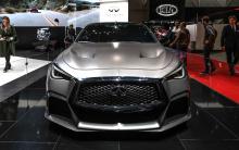 Названный Infiniti Project Black S, спортивный автомобиль использует инновационную технологию Формулы 1.