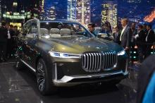 BMW Concept X7 iPerformance официально представлен на Франкфуртском автосалоне 2017.