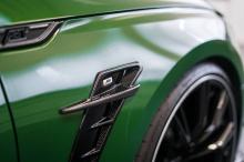 Аэродинамические изменения довольны элегантные, в отличие от цвета кузова! ABT установил новую переднюю губу и решетку радиатора с логотипом RS5-R. Опциональные карбоновые детали ABT, а также глянцевая задняя юбка завершают внешний вид. В интерьере п