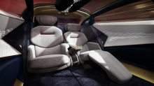 Концепция Vision не имеет традиционной решетки радиатора и массивной фронтальной части огромного размера, которая характерна для других автомобилей этого класса.