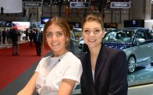 Девушки на Женевском автосалоне 2018