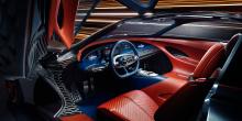 Несмотря на отсутствие обычного двигателя внутреннего сгорания, Essentia имеет классические пропорции Gran Turismo - длинный капот, переходящий с салон с откидным верхом.
