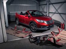 Да, это действительно кабриолет Honda CR-V, без крыши, на которую вы смотрите.
