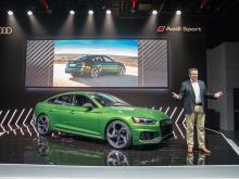 Audi не использует трансмиссию с двойным сцеплением в RS5, потому что она не может работать с  твин-турбо V6 мощностью 600 Нм крутутящего момента.