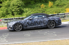 Появились фотографии, показывающие тестирование Bentley Continental GTC на Нюрбургринге в Германии.