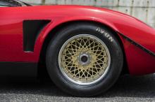 Lamborghini Miura SVR отличается своим сильно модифицированным кузовом, который включает расширенные крылья, крыло на крыше и передний сплиттер.