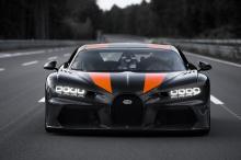 На данный момент очень мало информации известно. Bugatti просто выпустил несколько фотографий прототипа Chiron в его знаковой ливрее World Record Edition. Компания обещает предоставить дополнительную информацию позже.
