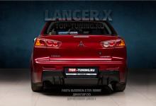 102907 Установка диффузора EVO на Lancer X