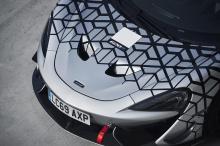 Заднее антикрыло взято прямо от 570S GT4. Оно регулируется и находится на высоте 32 см над верхней частью автомобиля. Покупатели получат автомобили в наименее агрессивной версии. Изменения увеличивают прижимную силу в общей сложности на 185 кг при аэ