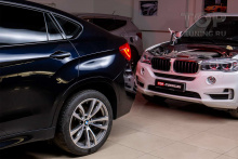103033 Установка электронного выхлопа THOR в BMW X6 f16 40D