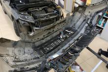 Передний бампер - после демонтажа