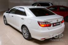 Монтаж комплекта спойлеров Моделлиста для Тойота Камри 50 (рестайлинг) 2014-2018