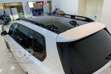 ЧЕРНАЯ КРЫША И ЗЕРКАЛА НА БЕЛОМ BMW X7