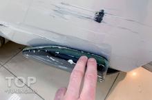 Повреждение бокового элерона (стеклопластик) последствия удара