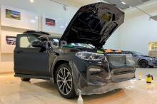 Защита переднего бампера от сколов и камней - BMW X4 G02