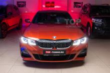 Тюнинг BMW 3 G20 - черная решетка радиатора, ноздри - Shadow Line