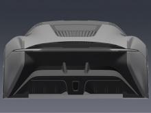 Если присмотреться к этим изображениям, мы увидим, что стиль безымянного автомобиля сочетает в себе C-X75 и культовый XJ220.