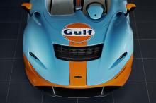 Хотя MSO предложит клиентам множество вариантов персонализации, версия с ливреей Gulf, представленная здесь, выглядит фантастически: оранжевая линия посередине кузова дополняет основной синий цвет.