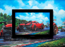 По словам Пагани, каждый автомобиль «изображен в форме общей страсти, чистой эстетики, технологической моды или как дань уважения Италии». Каждое изображение будет использовано в официальном календаре Pagani на 2021 год.