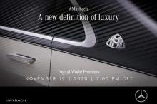 Цифровая премьера 2021 Mercedes-Maybach S-Class состоится 19 ноября 2020 года, всего через несколько дней. В преддверии презентации Mercedes опубликовал тизер нового автомобиля вместе с указанием времени проведения мероприятия.