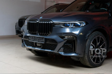 Готовая работа. Финал. После защиты полиуретановой пленкой STEK и установки черных аксессуаров BMW X7