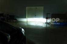 Тест на стене, после замены линз. Светодиодный ближний свет фар - Форд С Макс
