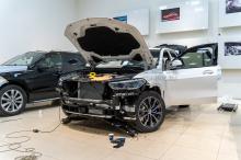 Оклейка пленкой BMW X5 G05 - работа. Топ Тюнинг Москва
