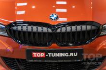 Установка черной решетки с динамической подсветкой Iconic Glow в BMW 3 G20/G21
