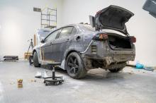 Задняя часть - Подгонка обвеса Accolade GT400 wide body - Тюнинг Лансер 10