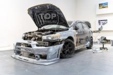 Перед - Подгонка обвеса Accolade GT400 wide body - Тюнинг Лансер 10