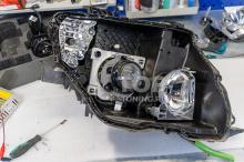 Фара внутри - Mitsubishi Pajero 4