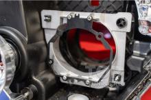 Монтаж переходной рамки в каркас линзы Mitsubishi Pajero 4