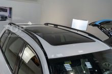 Крыша БМВ Х7 до начала работ. Белый перламутр.