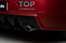 Тюнинг Митсубиши Лансер 10 - Накладка на задний бампер с диффузором (двойной выхлоп)