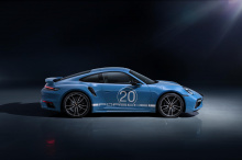 Разработанный индивидуальным подразделением Porsche Exclusive Manufaktur, особый 911 Turbo S отличается индивидуальной раскраской с цифрой 20 на дверях, значком «20 Years Porsche China Edition» на центральных стойках и тисненой надписью «Porsche Excl