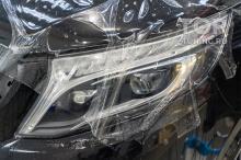 Пленка на фары Защита от сколов и камней для Mercedes В класса, 447 XL