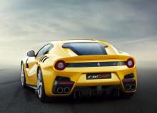 Автомобиль явно выглядит как суперкар с передним расположением двигателя, хотя кузов сильно отличается от всего, что мы видели на серийных Ferrari.