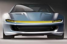«На боковой стороне автомобиля резко изменившаяся линия крыши изменяет базовый автомобиль от ветрового стекла и назад, поднимая крышу немного наверх над водителем, так что можно было бы получить кривую ускорения в направлении удлиненной спины», - поя