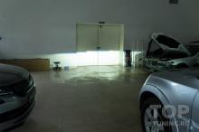 Ближний свет в Mitsubishi Pajero 4 (после замены линз)