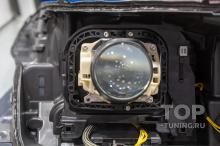 106112 Битва эталонного би-ксенона и лазерного Bi LED света в Range Rover 4 (2017)