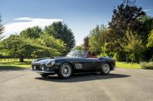 Автомобиль основан на 1960 SWB California Spyder, он был разработан Pininfarina и завершен Scaglietti, и их выпуск ограничен всего 106 единицами по всему миру. California Spyder производились Ferrari в вариантах SWB и LWB.