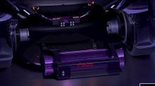 Экстерьер с агрессивным углом наклона - в комплекте с задним спойлером - указывает на то, что концепт MG MAZE оснащен батареей приличного размера.