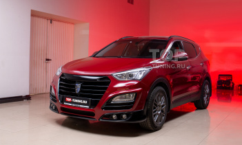 Обвес Larte для красного Hyundai Santa Fe 3 DM