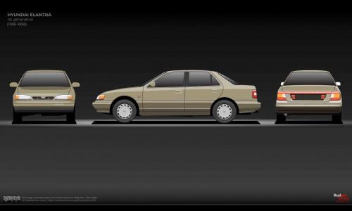 Посмотрите 20-летнюю эволюцию Hyundai Elantra