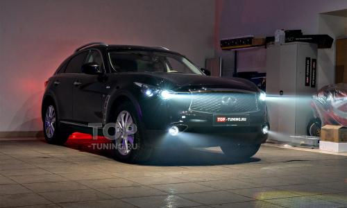 LED вместо ксенона. Сравнение на Infiniti QX70 S51
